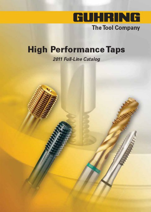Guhring high performance taps - ANSI Taps with STI