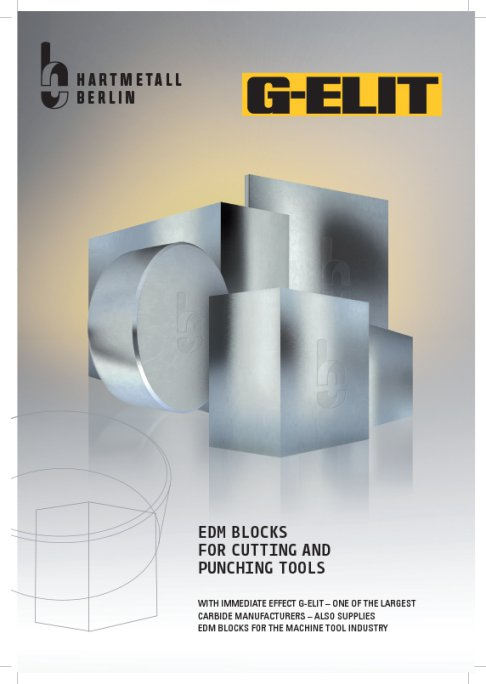 EDM Blocks for cutting and punching tools