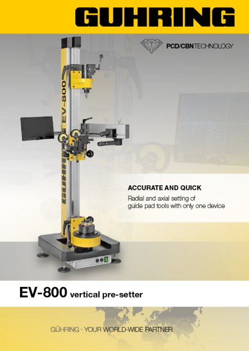 EV 800 Presetter - Accurate and Quick