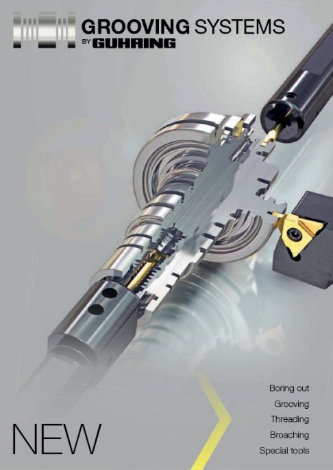 Guhring Grooving System - Boring cut, grooving, threading, broaching and special tools