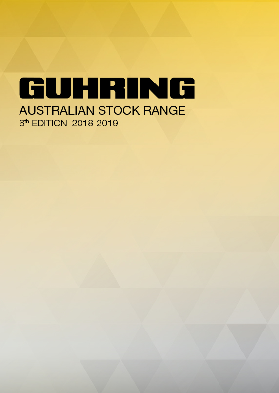 Guhring Australia Main Catalog 2018-2019 Edition