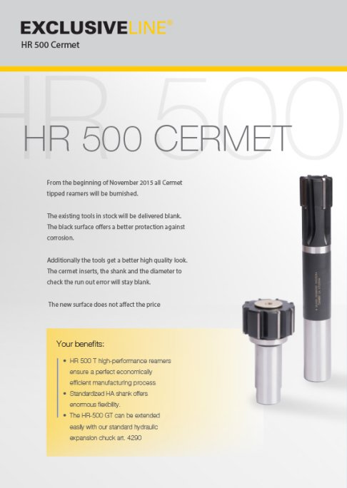 HR 500 Cermet - High Performance Reamers