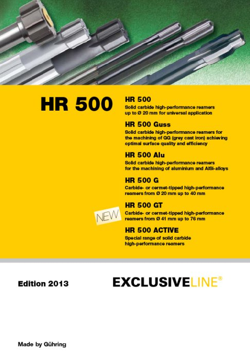 Guhring HR 500 - Edition 2013 - Exclusive Line