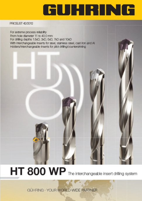 HT 800 WP - The interchangeable insert drilling system