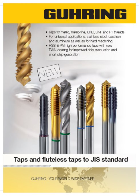 Browse our offering of Inch, and Metric JIS Taps Cut Taps.