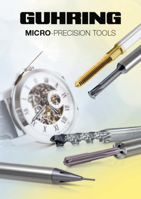 Guhring's micro-precision drill programme also includes special micro-precision tools in HSS-E-PM and solid carbide
