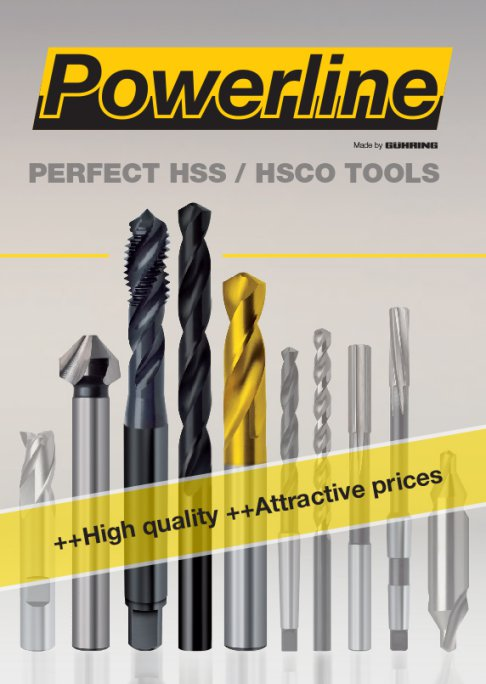 Powerline is a selection of high quality HSS and HSCO tools for your basic machining requirements.