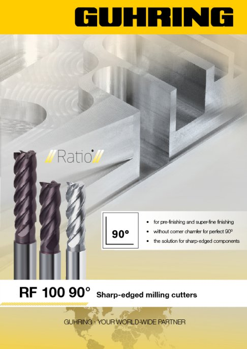 RF 100 90 Degrees - Sharp-edged milling cutters