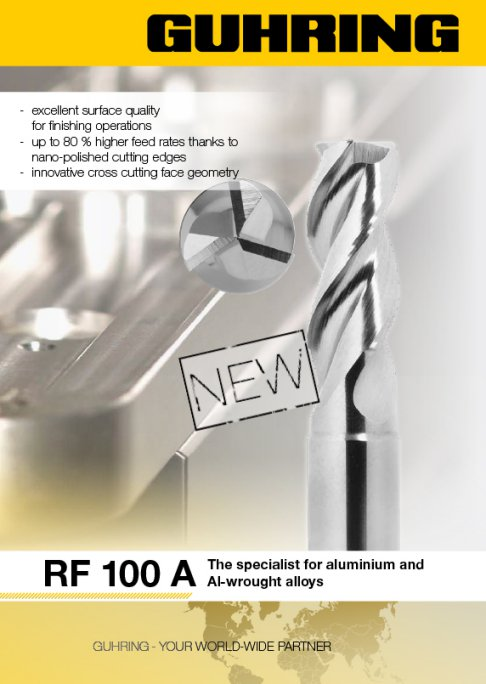 The RF 100 A is an entirely new generation of high-performance end mills.