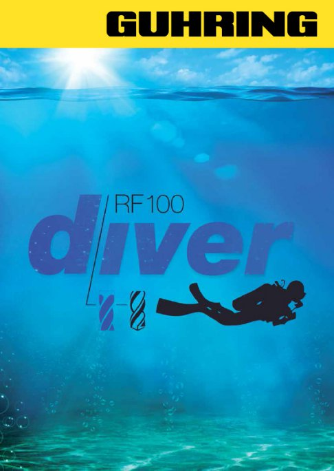 RF 100 Diver is capable of running at high parameters with large chip removal volume.