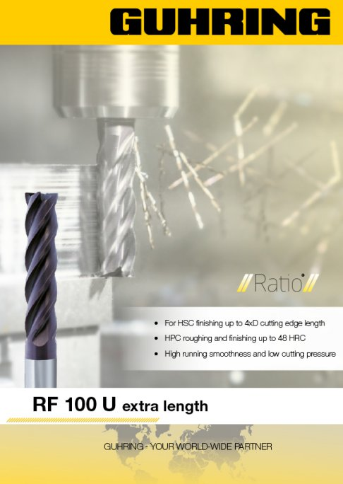RF 100 U (4-flute) - Metric - XL Long Length (3xD)