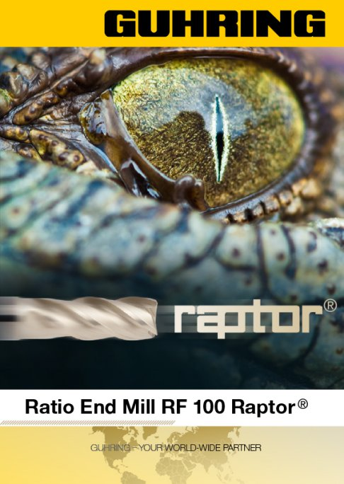 Ratio end mills RF 100 U Raptor
