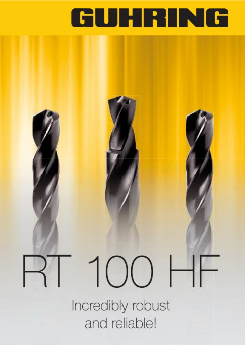 Cutting tools for Nickel and Titanium. Introducing the RT 100 HF - high penetration rate drill for Nickel Alloys.