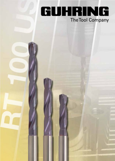 Nano-A coated heat resistant high penetration rate carbide drill series.