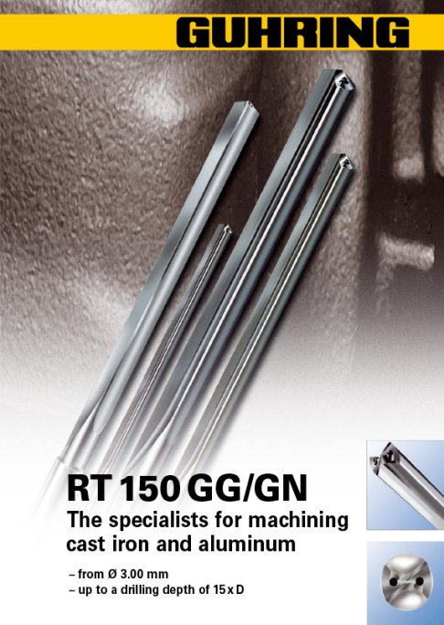 RT 150 Straight Fluted - The specialists for machining cast iron and aluminum