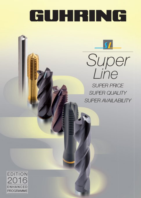 Guhring's SuperLine is a programme offering a selection of high-tech tools for drilling, milling, threading and reaming operations.