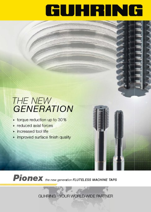 Pionex -the new generation fluteless machine taps