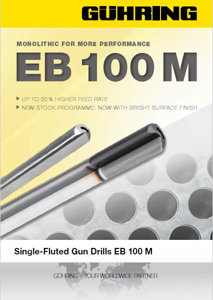 EB 100 M Single-Fluted Gun Drills EB 100M